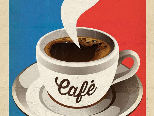 poster of a cup of coffee